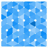 Abstract blue tiles background Stock Photo