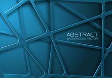 Abstract blue tone mesh line cross pattern overlap design modern futuristic background vector. Illustration vector illustration