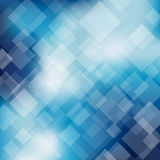 Abstract blue transparent square background. Abstract blue transparent square on background Royalty Free Stock Photo