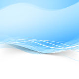 Abstract blue transparent wave background Stock Photos