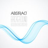 Abstract blue transparent wave background Royalty Free Stock Image