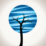 Abstract blue tree Royalty Free Stock Photography