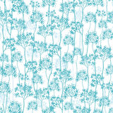 Abstract blue trees seamless pattern background. Vector abstract blue trees seamless pattern background with hand drawn elements vector illustration