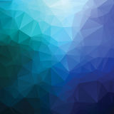 Abstract blue triangle geometrical background Stock Photo