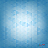 Abstract blue triangle, lined square, background Royalty Free Stock Image