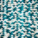 Abstract blue triangle seamless pattern Stock Image