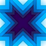 Abstract blue triangle shapes background Stock Photos