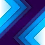 Abstract blue triangle shapes background Stock Photo