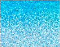 Abstract blue triangles background. Color abstract mosaic triangles background Royalty Free Stock Photography
