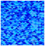 Abstract blue triangles background Stock Images