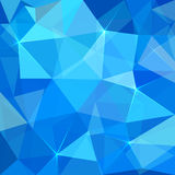 Abstract blue triangles  background Stock Photo