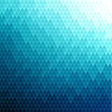 Abstract blue polygonal background with triangular pattern. Abstract blue triangles pattern geometric background - eps10 vector Royalty Free Stock Image