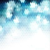 Abstract blue triangular pattern background with lights. Abstract blue triangles pattern geometric background - eps10 vector Stock Images