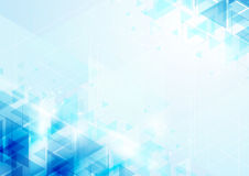 Abstract blue triangles on soft  background Stock Photography