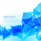 Abstract blue triangles vector design background Royalty Free Stock Images