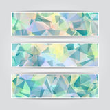 Abstract Blue Triangular banners set Royalty Free Stock Images