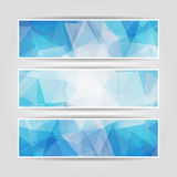 Abstract Blue Triangular banners set Royalty Free Stock Image