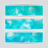 Abstract Blue Triangular banners set Stock Image