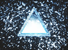 Abstract blue triangular button Stock Photography