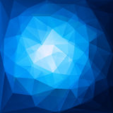 Abstract blue triangular pattern design Royalty Free Stock Photography