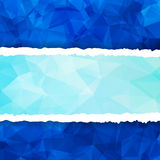 Abstract Blue Triangular Polygonal torn paper Royalty Free Stock Image