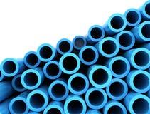Abstract blue tubes Stock Photos