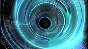 Abstract blue tunnel background stock footage