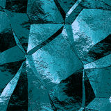Abstract blue and turquoise metal pattern with crumpled brushed structure Royalty Free Stock Photo