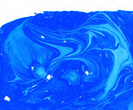 Abstract blue turquoise Water waves blue painted texture swirl abstract Stock Images