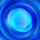 Abstract blue twirl text presentation template Stock Image