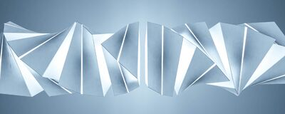 Free Abstract Blue Twist Geometric Shape 3d Render Illustration Stock Photos - 202361693