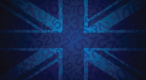 Abstract blue uk flag Stock Photo