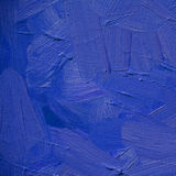 Abstract blue ultramarine painting by oil on canvas, illustratio Stock Photography