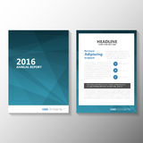 Abstract blue Vector Annual report Leaflet Brochure Flyer template design, book cover layout design Stock Image