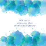 Abstract blue vector background in watercolor style Royalty Free Stock Photo
