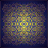 Abstract blue vector baroque background Royalty Free Stock Image