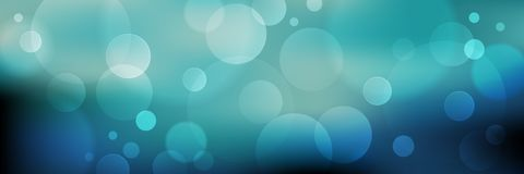 Abstract blue vector bokeh background