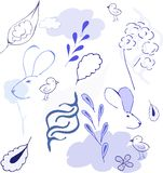 Abstract blue vector Stock Photography