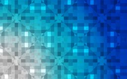 Abstract Blue vector geometric background in ocean colors vector illustration