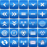Abstract blue vector icon set Stock Photo