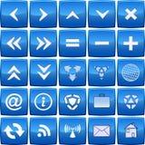 Abstract blue vector icon set Stock Photo