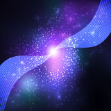 Abstract blue lens flare  background. Stock Photo