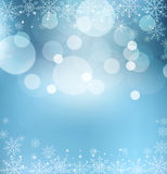 Abstract blue vector New Year's Eve Stock Image