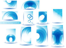 Abstract Blue Vector Template and Set Royalty Free Stock Photo