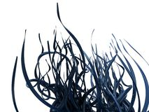 Abstract Blue Vines. An abstract image of blue vines/flourishes isolated on a white background Stock Photos
