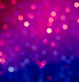 Abstract blue and violet circular bokeh background Royalty Free Stock Image