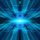 Abstract blue virtual technology concept futuristic digital back. Ground with space for your text. Vector illustration stock illustration