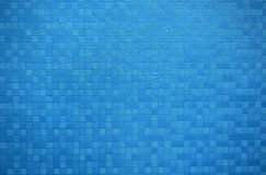 Abstract blue wall small squares lines background Stock Images