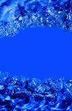 Abstract blue water. With bubbles royalty free stock photography