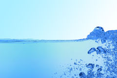 Abstract blue water background Stock Photos